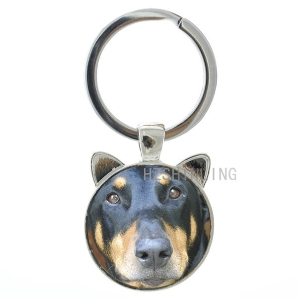 TAFREE Vintage animal dog charms Doberman Pinscher keychain keyring Best Doberman German Shepherd key chain ring holder gift CN719