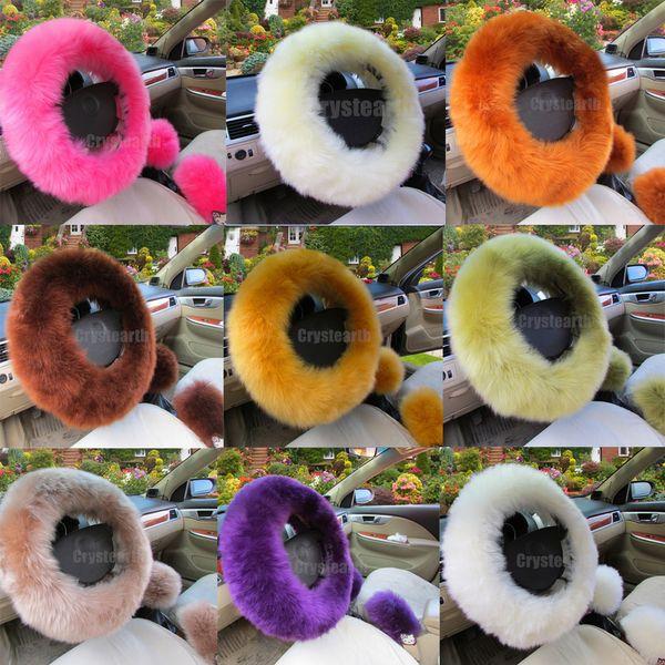38cm Volant Couverture en peluche laine hiver chaud Handbrake POMMEAU Cover Pour