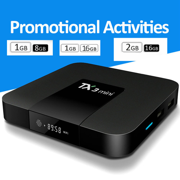 top popular TX3 Mini Android 7.1 TV Box Amlogic S905W Quad Core 1GB 2GB 8GB 16GB Smart Media Player With 2.4G 2019