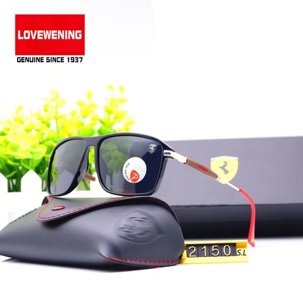 Stley (6) Großhandel Classic Square Polarisierte Sonnenbrille Männer Frauen Brille Rbany Farreri F2150 Gradient Polaroid Lens Spring Glasses Legs