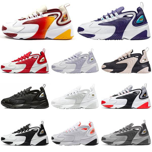 2020 NOUVEAU arc-en-blanc rouge Chaussures de course pour homme Zoom 2K M2K Tekno Race Rouge Bleu Royal Gris foncé Hommes Femmes baskets de sport