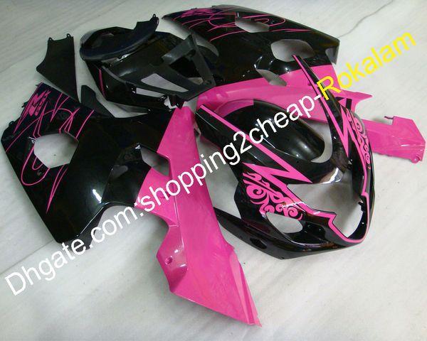Motorcycle Parts For Suzuki GSX-R 600 750 04 05 GSXR 600 2004 GSXR600 2005 K4 ABS Body Pink Black Fairings kit (Injection molding)