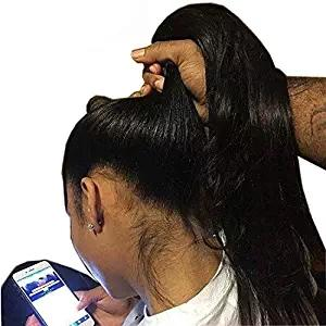 360 Full Lace Wigs Pre Plucked 8A 130% Density Brazilian Virgin Hair Straight Human Hair Wig With Baby Hair
