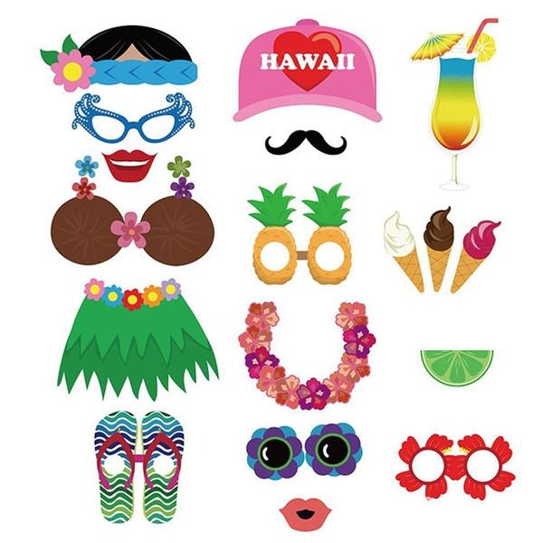Páscoa 60 Conjuntos de Papel Adereços Fotográficos Verão Havaí Seaside Partido Máscaras Fontes de Natal de Aniversário de Casamento Estranho Modelagem 13 gp A1