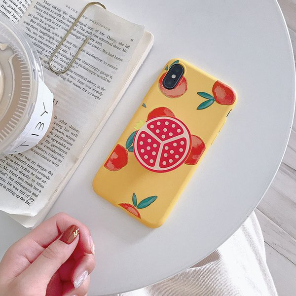 Airbag bracket Summer fruit phone case for iPhone X/Xs variety of fruit pattern TPU anti-fall soft cover
