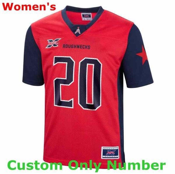 Femmes rouge sur mesure seulement Nombre (No Name)