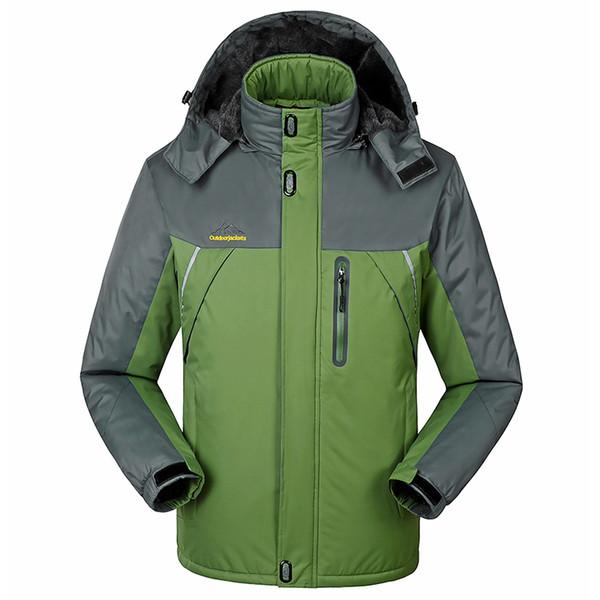 Pluse Taille Hommes Ski Veste Femmes Imperméable Coupe-Vent Veste Hiver En Plein Air Chaud Garder À Capuche Ski Et Snowboard