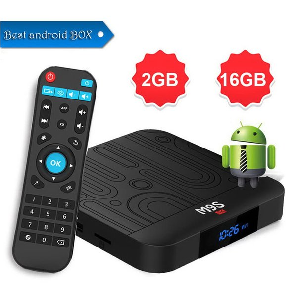 Best selling M9S W1 android 7.1tv box Quad Core 2GB 16GB Amlogic S905W Streaming Media Player Smart tv HD 4K WiFi Set Top Box Better HK1 Max