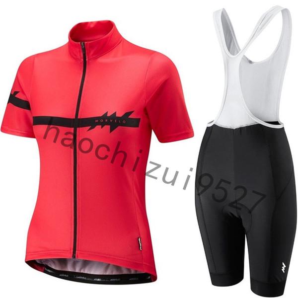 2019 Mujeres Morvelo Nuevo Conjunto de Jersey de Ciclismo Ropa Ciclismo Mujer Pro Bicicleta de Montaña Bicicleta de Manga Corta Verano Transpirable Ciclismo Ropa