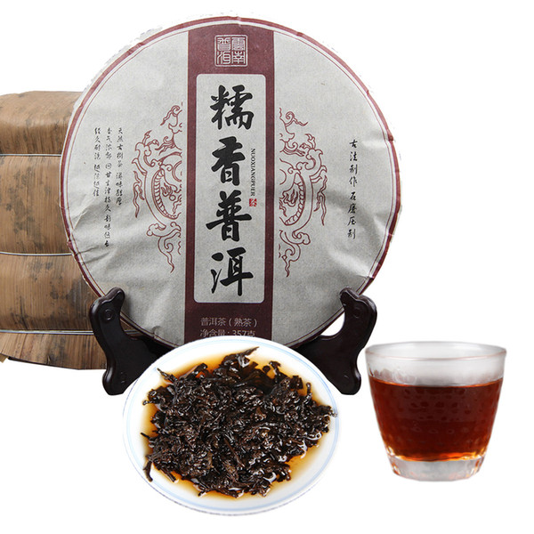 Preferenza 357g Yunnan Riso glutinoso Fragrante Tè nero Puer Torta Puer tè maturo Tè naturale organico Pu'er Vecchio albero Cotto Tè Puer Alimento verde