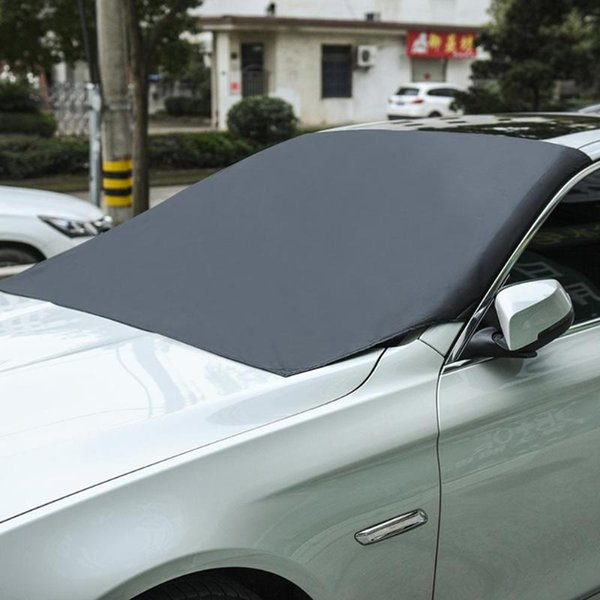210x120cm Universal Magnetic Car Front Windscreen Snow Ice Shield Protector Cover Windshield Sun Shade Black