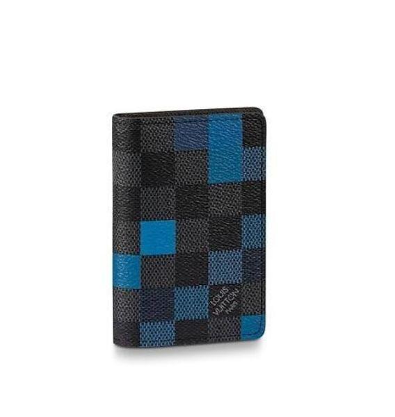 Nueva N60158 Pocket Organizer Men Real Leather Long Wallet Carteras de cadena Monedero compacto Embragues Tarde Tarde Titulares de la tarjeta