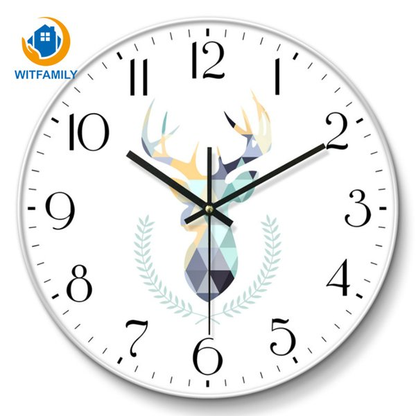 Modern 10 Inch Metal Silent Quartz Wall Clock Sweep Movement No-ticking Number Wall Watch Home Decor Living Room Hanging Clock