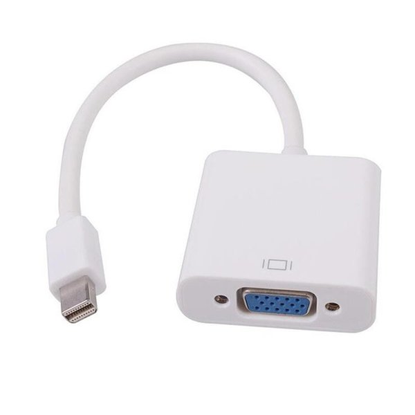 Latest Thunderbolt Mini Displarport Display Port DP Male to VGA Female Adapter Cable for HDTV Apple Macbook Air PC