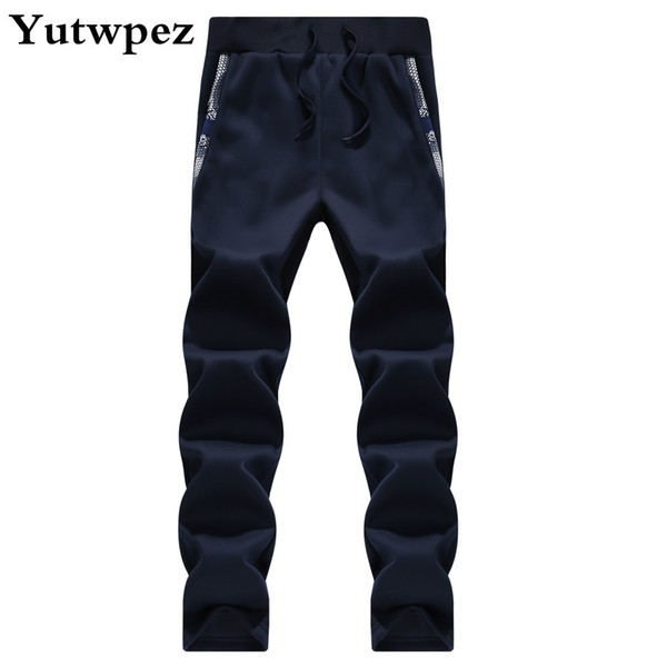 Fashion Men Pants Camouflage Army Thick Fleece Warm Fitness Sweat Pants Long Trousers Straight Drawsting Striped Joggers