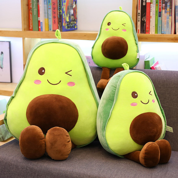 top popular Free Shipping NEW Avocado pillows Stuffed toy cute creative fruit doll pillow Cushion Car Decoration Cute Valentine`s Day Gifts Hot Toys 2020