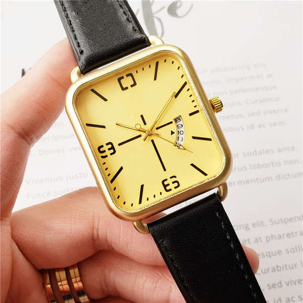 New Luxury Couple brand women men watches Fashion Leather strap Gold Quartz Classic Wrist watch for Mens Ladies best Valentine gift relogio