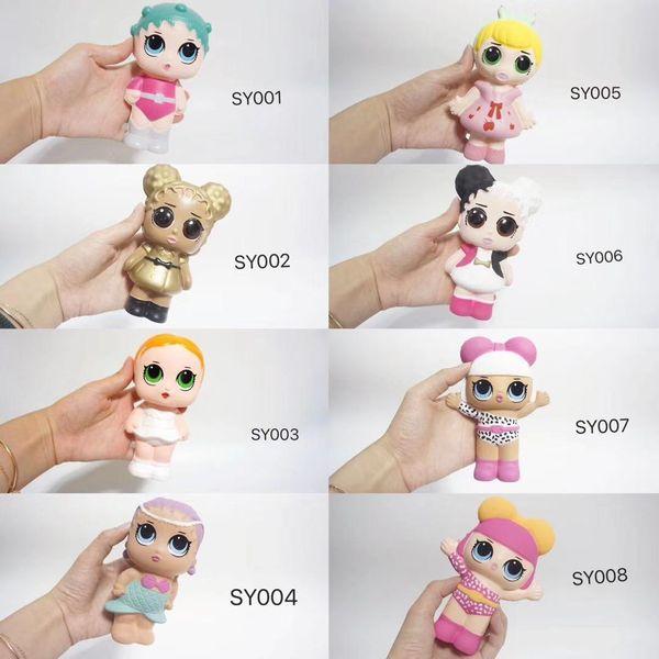 Squishy lento rebote Serie popular 6 estilo Muñecas Envían aleatoriamente Juguetes de muñeca para la Acción de los niños Juguetes digitales Regalos Niños y niñas
