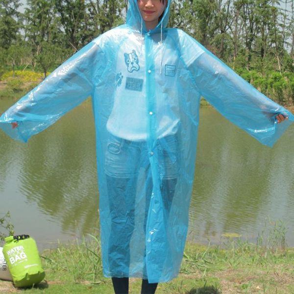 Portable Convenient Adult Emergency Disposable Raincoat Women Man PE Transparent Rain Coat Poncho Drop Shipping #0524 #319615