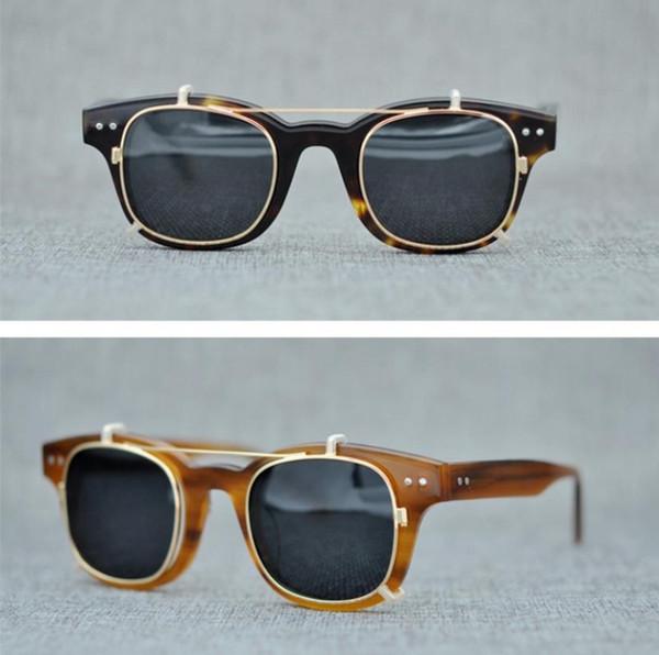 Brand Eyeglasses Frames Optical Glasses Frame with Sunglasses Lens Women Men Spectacle Frames Myopia Glasses The Mask Clip-on Sunglass