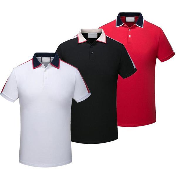 summer Classic high quality men's cotton Polo shirt 2019 leisure men's short sleeves polo shirt fashion luxurious men's solid