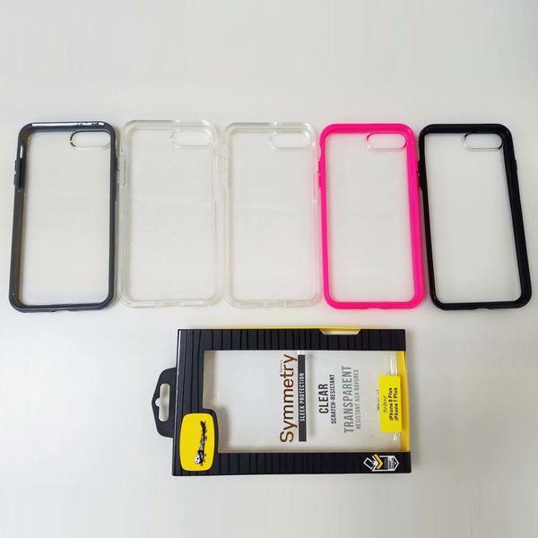 Luxo simetria phone case para iphone 8 plus 7 6 6 s robô capa resistente armadura à prova de choque do telefone móvel de volta shell plástico tpu pele