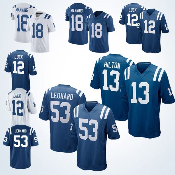 san francisco a9fed d882a 2019 2019 New Men Indianapolis 12 Andrew Luck 13 T.Y. Hilton ...