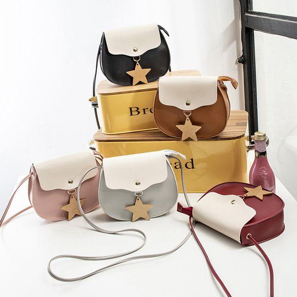 Women PU Leather Strap Stars Pendant bags Wallet Pouch Phonebag Casual Fashion Small Shoulder Bag LJJP316