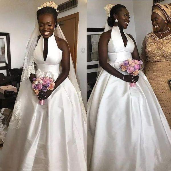 Saudi Arabic A Line Beach Wedding Dresses Plus Size Bridal Ball Gown Robe  De Mariée African Bride Dress Wedding Dress Plus Size Wedding Dress Rentals  ...