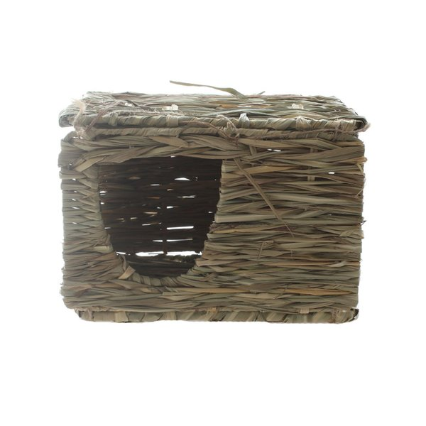 Foldable Grass Hay Mat House Hut Hideout Chew Toys for Rabbits Guinea Pigs Chinchillas Bunnies and other Small Animals