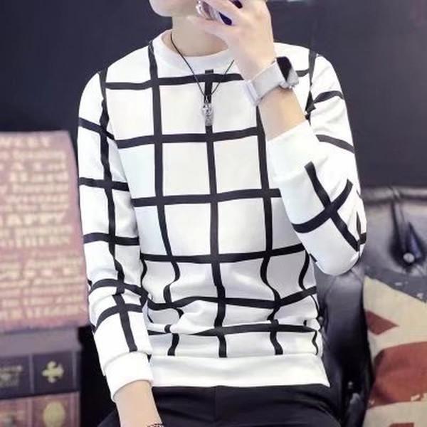 Herren Hoodie 2019 Neue Student Mantel Kleidung Oansatz Herrenbekleidung Langarm Regelmäßige Plaid Männer Hoodies Weiß Schwarz