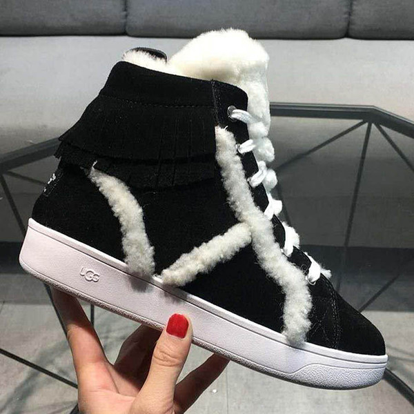 American luxury VGGwomen s boots nubuck leather boots real hair design ladies warm shoes calfskin sandals with original box original logo-30