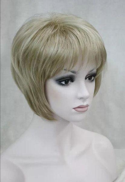 WIG LL NUEVO ESTILO Envío gratis Nuevas damas peluca mujeres Rubias Pelucas de cabello natural de las mujeres