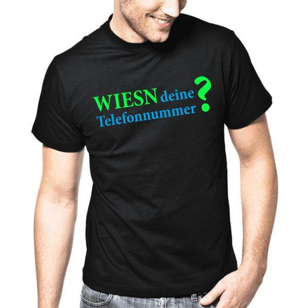 Wiesn Deine Telefonnummer?   Oktoberfest Fun   S-3XL T-Shirt Brand Cotton Men Clothing Male Slim Fit T Shirt Couple