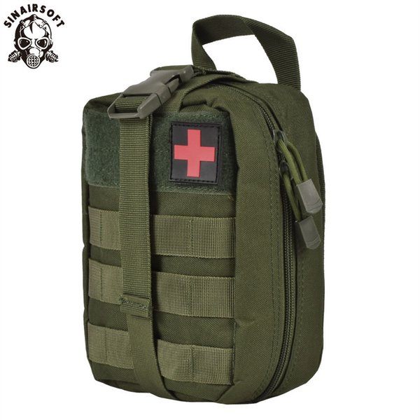 SINAIRSOFT Nylon First Aid Bag Tactical Molle Medical Pouch EMT Emergency EDC Rip-Away Survival IFAK Utility Car Airsoft Hunting #28683