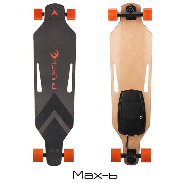 38-дюймовый электрический скейтборд электронный длинный борт 15 миль / ч 500 Вт электрический мотор-скейтборд беспроводной пульт дистанционного управления