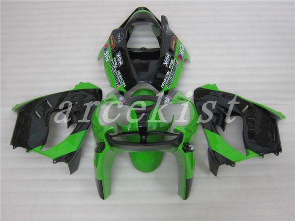 Nuevo kit de carenados ABS para Ninja Kawasaki ZX9R 2002 2003 ZX-9R ZX 9R 02 03 elfo verde negro personalizado