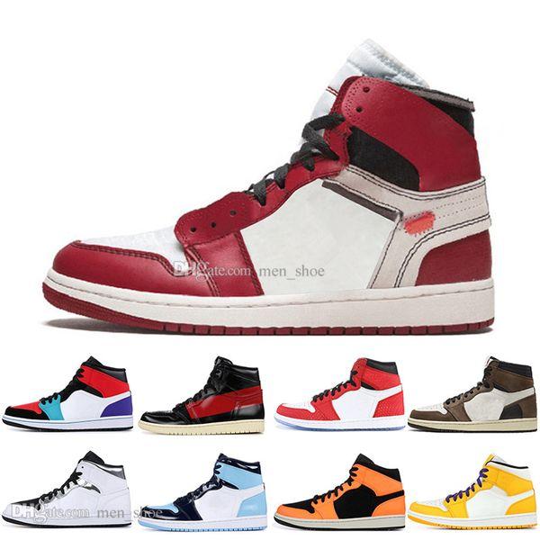 1 High OG Travis Scotts Scarpe da basket Spiderman White Silver UNC 1s top 3 Mens Homage To Home Royal Blue Sport Designer Sneakers da ginnastica