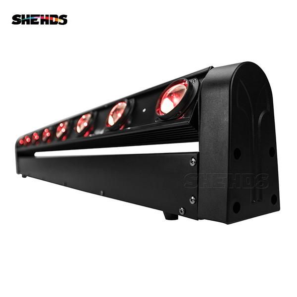 SHEHDS LED Barra mobile a testa mobile a luce RGBW 8x12W perfetta per DJ mobile discoteca discoteca discoteca sala da ballo