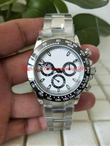 8 cores relógio de qualidade superior BP Fábrica CAL.7750 Movimento 40mm 116500 116500LN 116506 116508 Sapphire vidro Cronógrafo Automático Mens Relógios