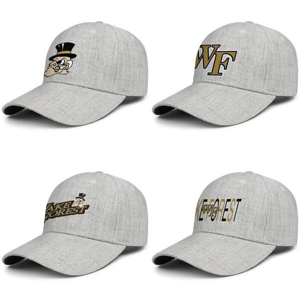 Wake Forest Demon Deacons logo de basket-ball Hommes Femmes snapback réglable design chapeau de laine de baseball frais sportsSun plat noir Lettrage