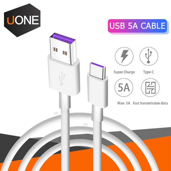 OEM HUAWEI USB 5A Tipo C Cable P30 P20 lite Mate20 PRO USB 3.1 Tipo C SUPER Cargador rápido Cable de carga Samsung S10 Lg Xiao MI Android Phone