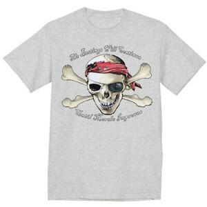 Sale 3XLT Big and Tall Tee Funny Pirate Decal Gifts T shirt for Men