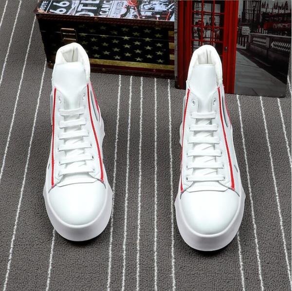 Moda Primavera / Verão Dos Homens Sapatos Casuais Respirável Preto High-top Lace-up Sapatos de Lona Sapatos Flats Mens H425