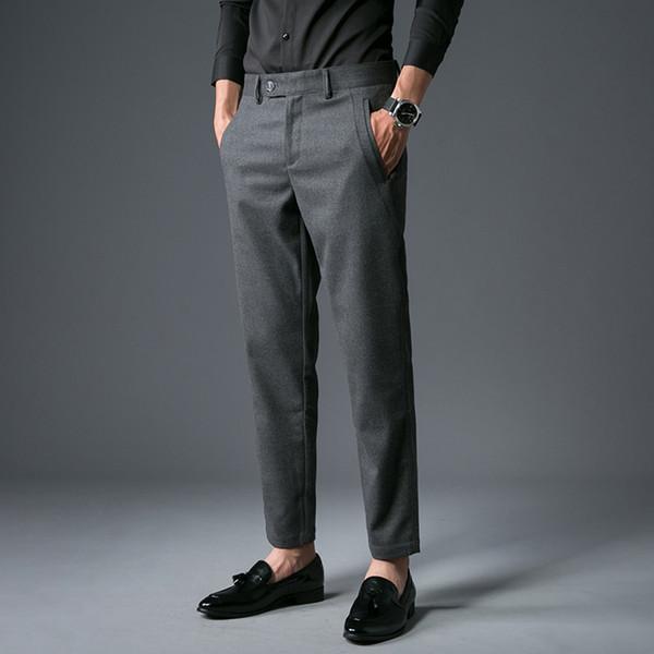 A195-p65, wollens boş zaman pantolon giymek batı tarzı pantolon erkek pantolon-28-36 kod - gri