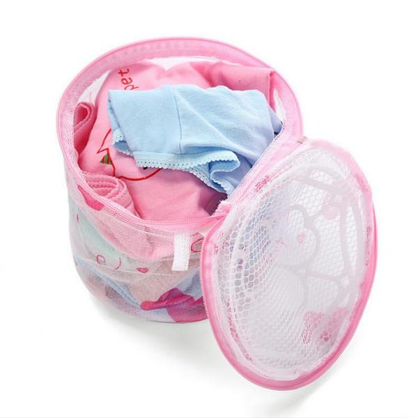 Бюстгальтер мешки для стирки прачечная чистая мыть мешки круглой формы бюстгальтер мыть мешок бюстгальтер без защиты 15,5*13,5 см