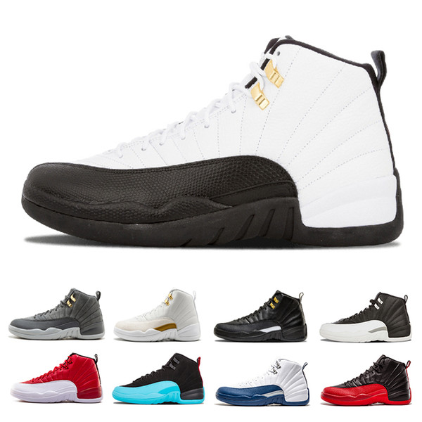 Drop shipping 12 XII basketball shoes men white black Gym Red Flu Game French Gamma blue Taxi Playoffs the Master cherry sports sneaker