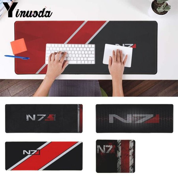 Yinuoda Simple Design Mass Effect N7 Logo Customized laptop Gaming mouse pad Mouse Keyboards Mat Mousepad for boyfriend Gift
