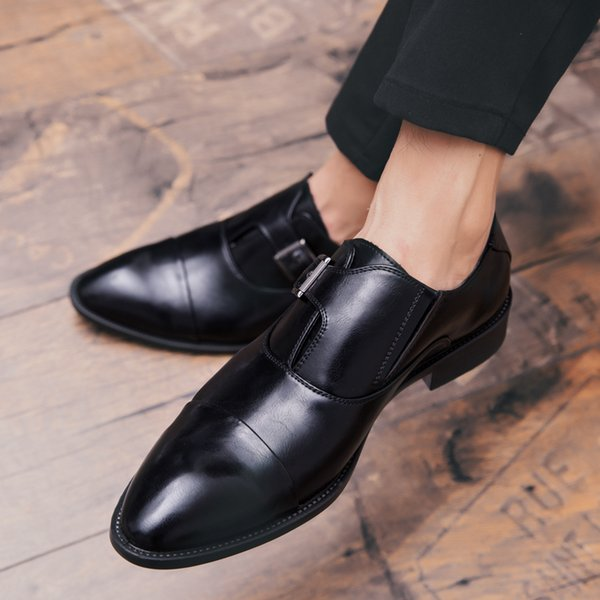 Leather Mens Formal Shoes Dress Shoes Fashion Oxford Business Design Oxford Wedding Shoes For Male Mens Formal Shoes Dress Shoes