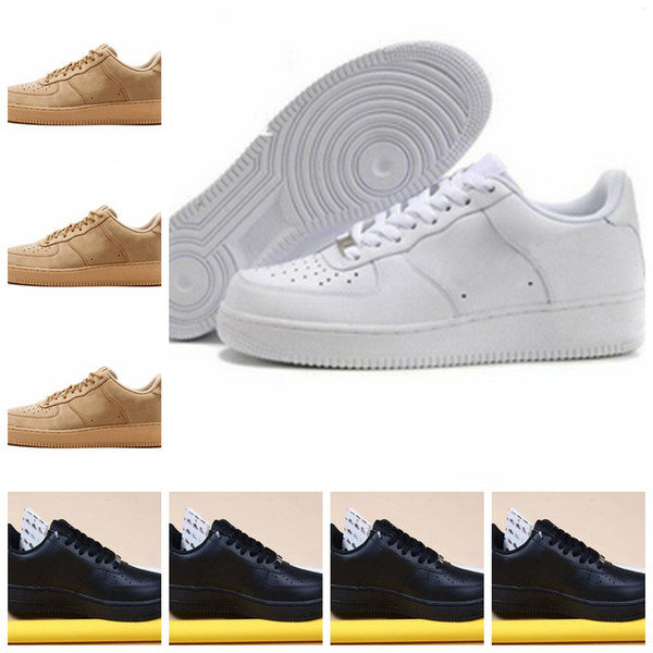 top popular With box Cheap Brand One 1 Dunk Flyline Shoes Women Mens Low Cut Black White High Quality Skateboarding Classic Sports Sneakers US5.5-11 2019